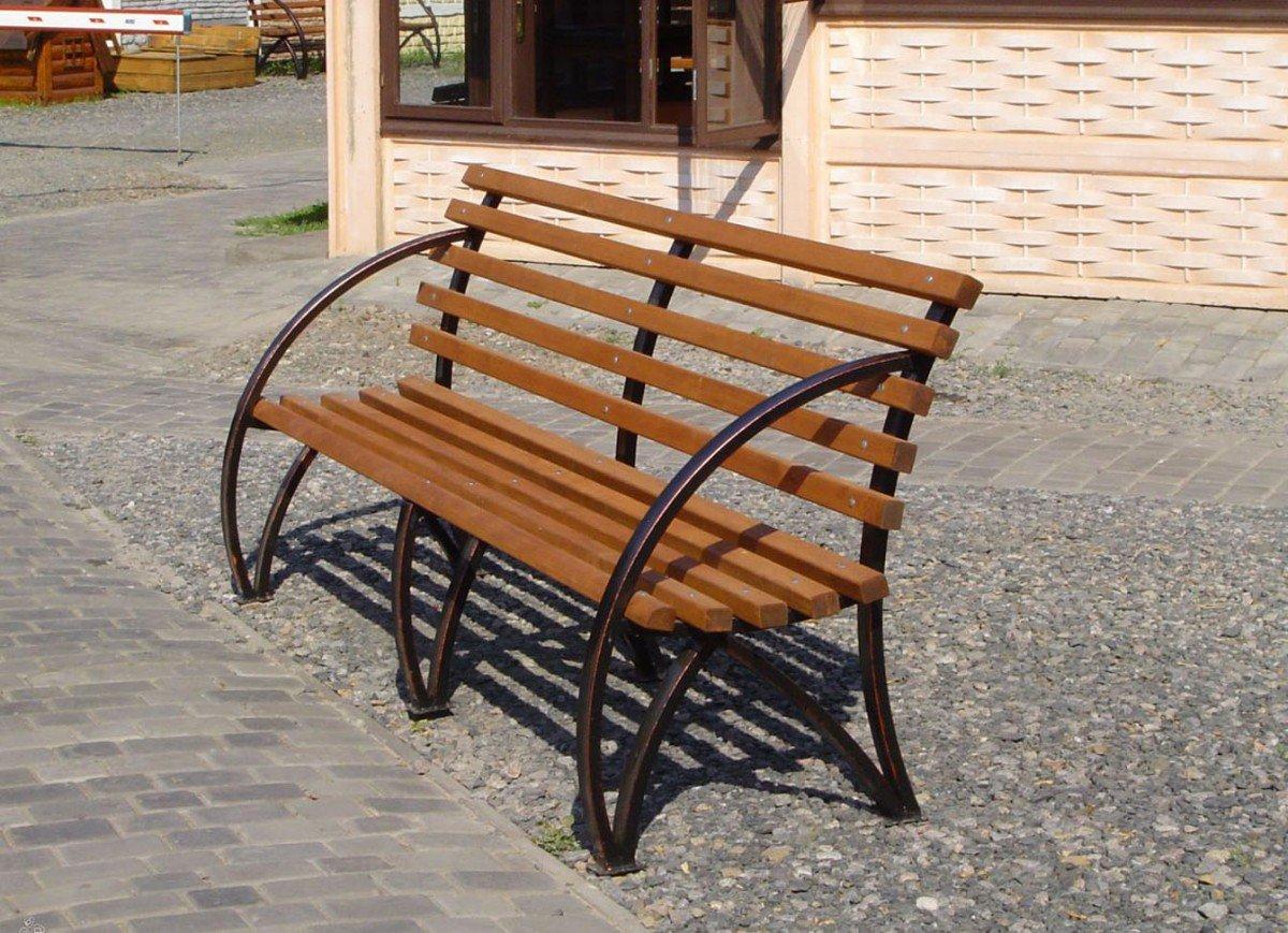 Садовые скамейки из профильной трубы своими руками фото 173