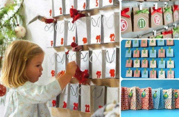 Адвент календарь для детей своими руками: шаблоны и задания, чтобы распечатать