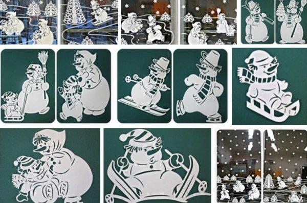 Трафареты на окна 2019 из бумаги к Новому году, скачать и распечатать. Шаблоны и картинки для вырезания