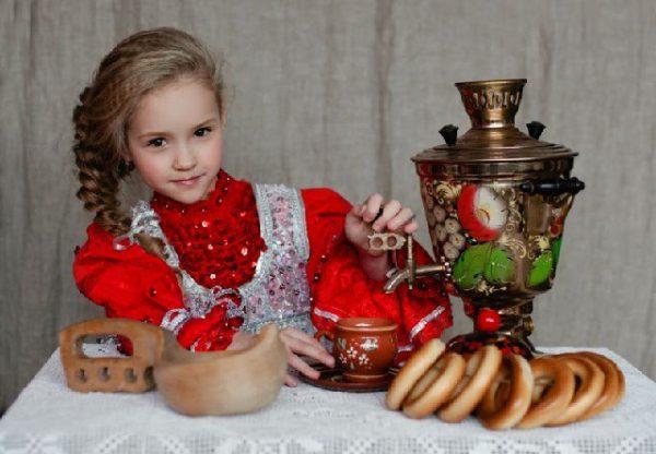 Кухня в русском стиле – интерьер, самовар и аксессуары
